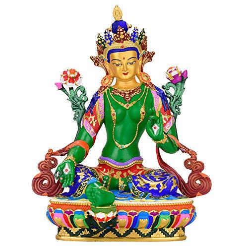 LIMEIA Bodhisattva Tara - Buddha Figur, Messing-Skulptur, Tibetisch-Buddhistischer Bedarf, Wohnraumdekoration, Frieden, Symbol des Reichtums, Figurensammlung (16 X 10 X 21 cm)