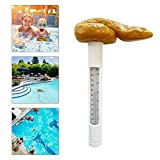 Poop-Shaped Prank Floating Pool Thermometer, Easy to Read, Remote Pool Thermometer for Swimming Pool, Bath Water, and Hot Tubs, Swimming Pool Party