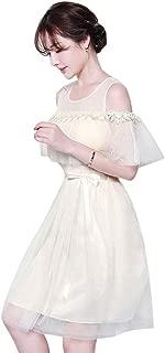 Amosfun Short Scoop Bridesmaid Floral Lace Dress Cocktail Formal Lace Tulle Wedding Girl Dress Junior Bridesmaid Dress