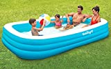 Inflatable Swimming Pool,118' X 72' X 22' Full-Sized Family Lounge Pool for Kids Adults Baby Children, Blow Up Kiddie Pools for Outdoor Garden Backyard Summer Water Party
