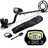 AMYSPORTS Best Accuracy Metal Detector Waterproof Professional Gold Metal Detectors Underground Deep Coin Metal Detector for Adults Gold Detector Kit 10' Search Coil