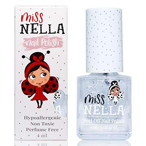 Miss Nella CONFETTI CLOUDS- Spezieller Nagellack mit Glitzer für Kinder, Peel-Off-Formel, wasserbasiert und geruchsneutral