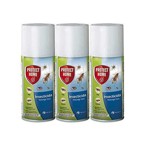 Protect Home - Insecticida Descarga Total, automático, antiguo Solfac, 150ml (Pack 3 unidades)