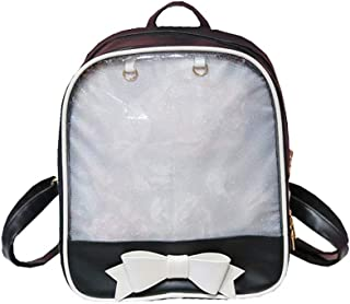 PU Leather Bag Birthday Christmas Gift Back to School Gift for Pupils Middle School Students Black White