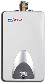 Waiwela Wm-4.0 Electric Mini-Tank Point-Of-Use Hot Water Heater (4.0 Gallon) Floor or Wall Mount, 120V. Glass Lined Tank