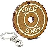 LIKY ® gimnasio disco de peso - llavero original de madera grabado regalo para día del padre madre mujer hombre cumpleaños pasatiempo colgante bolso mochila