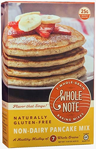 Whole Note Non-Dairy Pancake Mix, 7-Whole-Grain and Naturally Gluten-Free (Pack of 3)