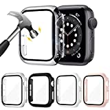 LORDSON [4 Piezas] Funda Compatible con Apple Watch Series SE /6/5/4 40 mm, [Cobertura total]...