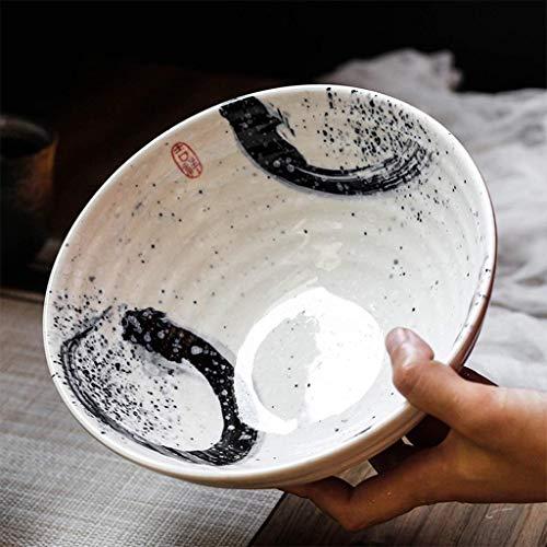 WEHOLY Abendessen Japanisch S.Stil Keramik Geschirr Schüssel Instant Nudel Große Suppe Schüssel Miso Ramen Schüssel Home Restaurant Hotel 7,5 Zoll