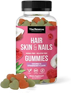 The Reserve Sugar Free Biotin Vitamins for Hair Skin and Nails to Eliminate Toxins and Increase Hair Growth, Nail Growth, ...