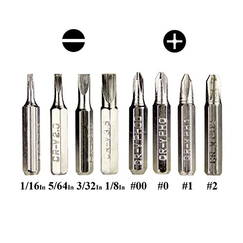 Swatom 8 in 1 Mini Screwdriver Set Pen Style Small Repair Tools Compact Precision Gadgets Kit for Home Improvement Computer Eyeglasses
