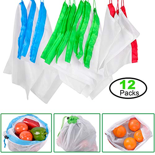 12 PC Reusable Mesh Produce Bags Pack $2.99 (25% Off)