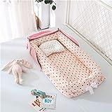 Tragbares Baby Nest Bett für Jungen Mädchen Reisebett Kleinkind Baumwolle Wiege Babybett Neugeborenes Bett C1