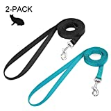 Small Pet Leash Cat Walking Dog Leash 59 inches Long Nylon Kitten Leashes for Easy Control Lightweight Durable Puppy Leash with 360 Degree Swivel Clip Training Leashes for Small Medium Cats, 2 Pack