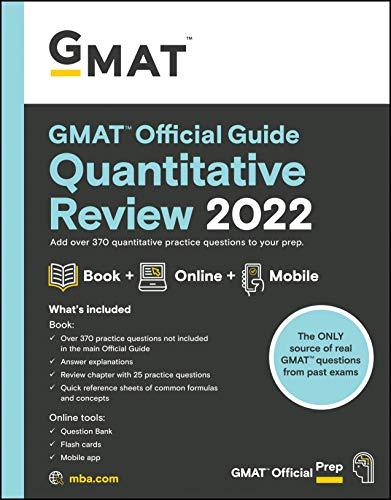 GMAT Official Guide Quantitative Review 2022: Book + Online Question Bank