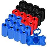 Bolsas excrementos perros (360) y un dispensador bolsas caca perro , el lote incluye las 360 bolsas en 24 rollos de 15 bolsa perros caca (Dispensador azul)