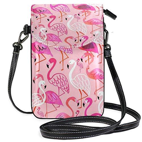 XCNGG Kleine Geldbörse Flamingo Cell Phone Purse Wallet for Women Girl Small Crossbody Purse Bags