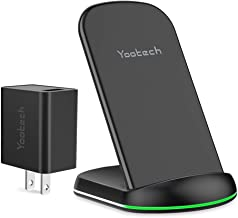 Yootech Wireless Charger, Qi-Certified Wireless Charging Stand with Quick Adapter,Compatible with iPhone XR/XS Max/XS/X/8/8Plus, 10W for Galaxy Note 10/Note 10 Plus/S10/S10 Plus/S10E