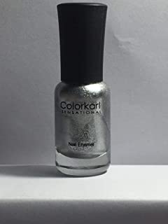 Colorkart Sensatioanal Long Lasting Gel Base Nail Enamel, Silver Sant, 9 ml