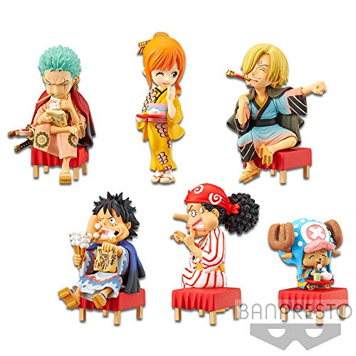 Banpresto One Piece WCF World Collection Figurine Japanese Style – Set complet 6 personnages 7 cm