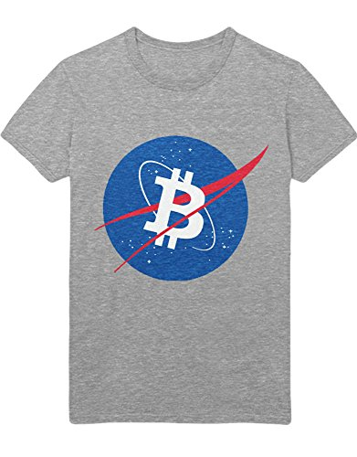 T-Shirt Cryptocurrency Bitcoin NASA Style H000027 Grau L