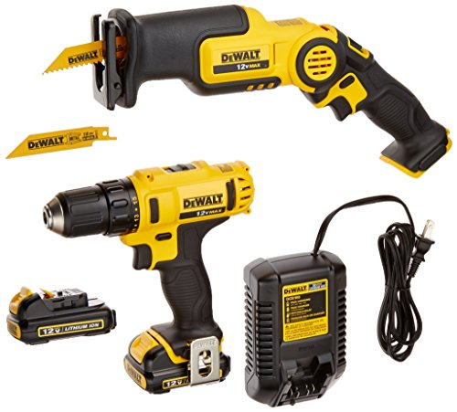 DEWALT DCK212S2 12-Volt MAX Drill Driver and Reciprocating Saw Kit