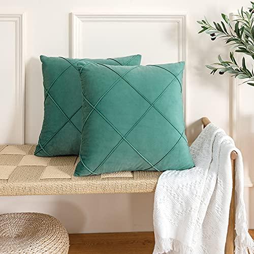 Fundas de Almohada Funda de cojín para sofá Sala de Estar Funda de Almohada Decorativa para el hogar de poliéster Suave 45x45cm 30x50cm 50x50cm-verde Claro, 30cm x 50cm 1pc