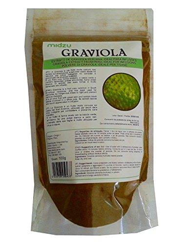 Guanabana Blattpulver - Graviola Pulver - naturbelassen ohne Zusätze - 100g - Soursop - schonend getrocknet - GARANTIERT PESTIZITFREI, handverlesene Wildsammlung - Badezusatz - HÖCHSTE QUALITÄT