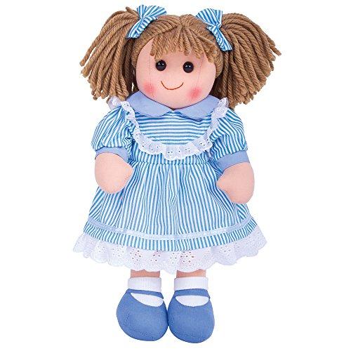 Bigjigs Toys Poupée 38cm Amelia | Jouet Enfant | Jeu Traditionnel Enfant | Nounours | Jouet Enfant | Cadeau Enfant | Jouet pour Fille