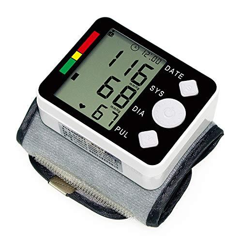Tensiómetro de Muñeca Automático, Monitor de Presión Arterial Digital Inteligente, Pantalla LCD, Apagado Automático