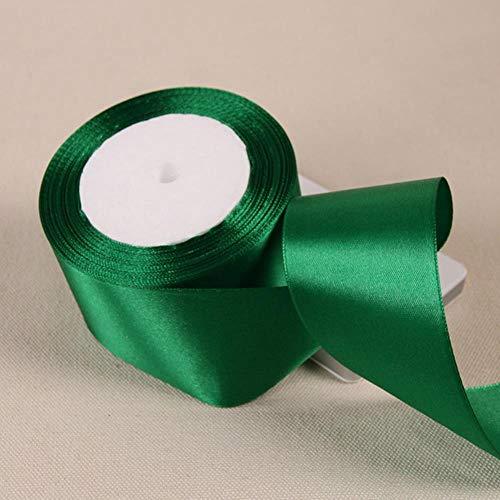 6 mm 10 mm 15 mm 20 mm 25 mm 38 mm 50 mm Blanco Rosa Negro Rojo Verde Azul Púrpura Amarillo Marrón Decoración de la boda de Navidad Cintas de raso, verde, 50 mm