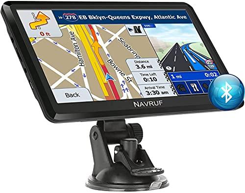 GPS Navigatore Satellitare Auto 7 Pollici Touch Screen, Avviso Traffico Vocale, Limite di Velocit...