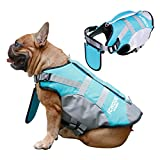iChoue Dog Life Jackets Saver Swimming Vest Floating Plate for English Bulldog Labrador Golden Retriever (Blue, XL)