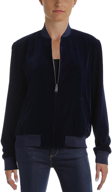 Lauren Ralph Lauren Womens Fucetta Fall Velour Bomber Jacket