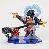 No Figura de Anime Figura de Anime 16cm One Piece Gear 4 Luffy Action Monkey Luffy Gear Four Snakema...