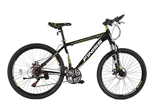 SHINEWOOD 自転車 26インチ マウンテンバイク MTB フロントサスペンション シマノ21段変速(ブラック&グリ...