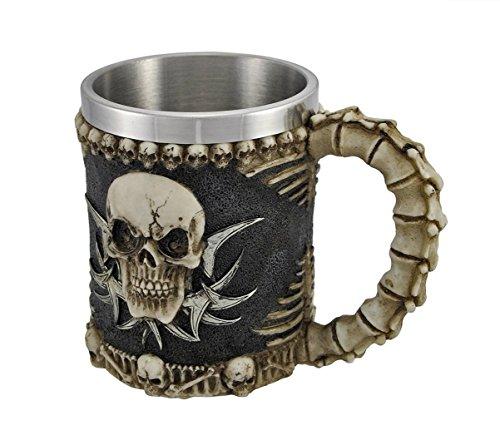 DingSheng 3D-Kaffeetasse mit Totenkopf-Motiv, toll für Kaffee, Tee, Flasche, Becher, Trinkbecher, edelstahl Kunstharz, 003