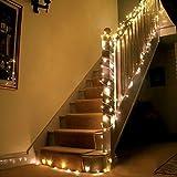 L' illuminazione è composta da fili con 200 singoli LED,(la distanza dalla spina è 0,6m), ideale per la decorazione Ha un pannello con MODE, e possiamo settare su MODE per 8 luci modi infiammanti 8 luci modi infiammanti: La combinazione, in onde, seq...