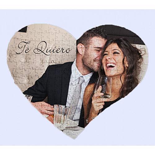 pequeño y compacto Rompecabezas de corazones OyC personalizados para fotos, imágenes, textos, retratos, fotos, regalos, parejas y más.