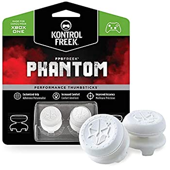 KontrolFreek FPS Freek Phantom for Xbox One Controller | Performance Thumbsticks | 2 High-Rise Concave | White