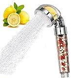 KangYD Alcachofa, Cabezal de ducha de mano Vitamina C iónica, Filtro de ducha Rainfull de alta presión, Filtros de ducha con suavizador de agua dura, Accesorios de baño, Kit de ducha