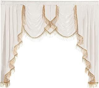NAPEARL Polyester Satin Curtain Valance (White, 1 Valance 61