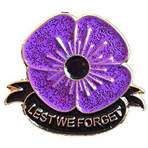 Lodenlli Safflower Purple Flower Brooch Alloy Rhinestone Red Poppy Flowers Brooch Round Pin Badge