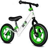 Green (4LBS) Aluminum Balance Bike for Kids and Toddlers - 12' No Pedal Sport Training Bicycle for...