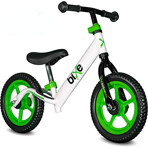 Bixe: Green (Lightweight - 4LBS) Aluminum Balance Bike for Kids and Toddlers - No Pedal Sport Training Bicycle - Bikes for 2, 3, 4, 5 Year Old