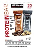 Kirkland Signature Protein Bar Variety Pack 20 Count Chocolate Peanut Butter...