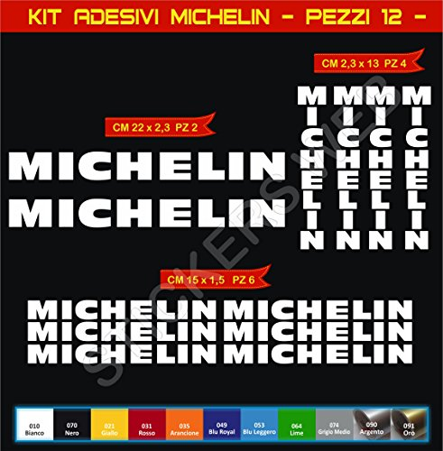 Aufkleber stickers MICHELIN moto decal bike-Motorrad- Cod. 0626 (Bianco cod. 010)