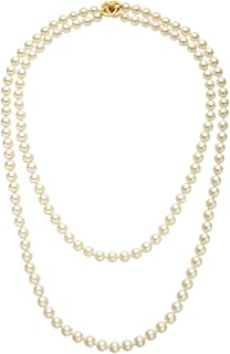 CHANEL White Faux Pearl 'CC' Turn-Lock Necklace (Pre-Owned)