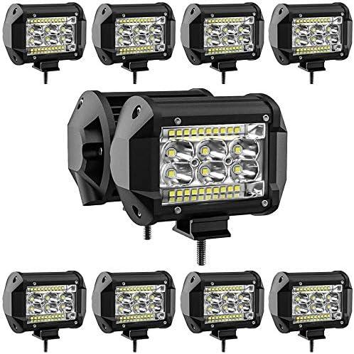 78W LED Pods Light Bar 10PCS 4 inch LED Light Pods Spot Offroad Lights Bar Combo Beam high Brightness product image