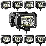 78W LED Pods Light Bar 10PCS 4 inch LED Light Pods Spot Offroad Lights Bar Combo Beam, high Brightness led Light Bars for Trucks Off-Road SUV Tractor Rv ATV UTV Boat Lighting
